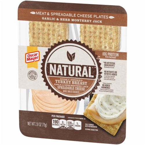 Oscar Mayer Natural Honey Smoked Turkey Breast Meat & Spreadable Cheese Perspective: right