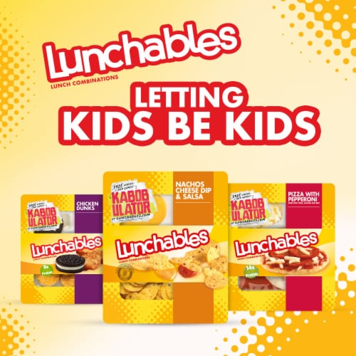 Lunchables Nachos Cheese Dip & Salsa Perspective: right