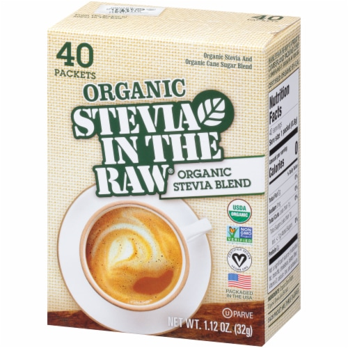 Stevia In The Raw Organic Stevia Blend Packets Perspective: right