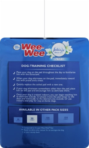 Four Paws Febreze Spring Fresh Scent Wee-Wee Pads Perspective: right