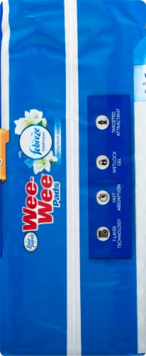 Four Paws Febreze Spring Fresh Scent Wee-Wee Pads 10 Count Perspective: right