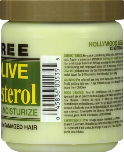 Hollywood Beauty Olive Cholesterol Deep Conditioning Creme for Damaged Hair Perspective: right