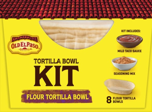 Old El Paso Soft Flour Tortilla Bowl Dinner Kit Perspective: right