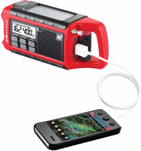 E-Ready Emergency Compact Crank Radio Perspective: right