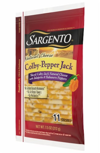 Sargento Natural Colby-Pepper Jack Cheese Slices Perspective: right