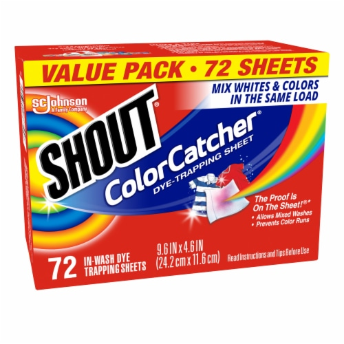 Shout Color Catcher Sheets Perspective: right