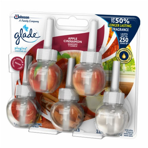 Glade PlugIns Scented Oil Apple Cinnamon Refills Perspective: right