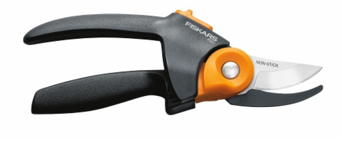 Fiskars PowerGear Bypass Pruner - Black/Orange Perspective: right