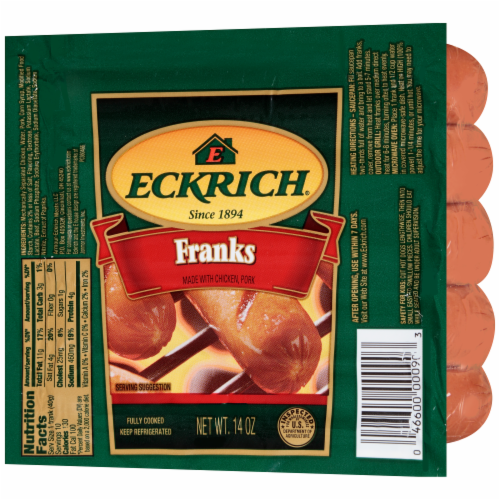 Eckrich Original Franks Perspective: right