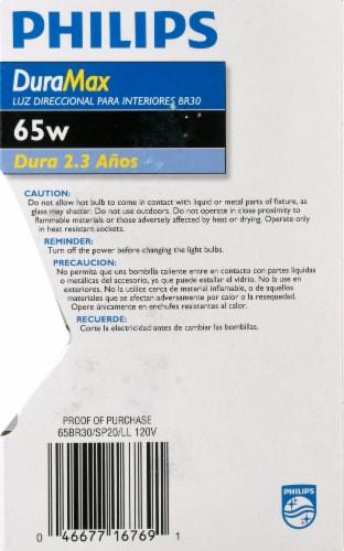 Philips 65-Watt BR30 Incandescent Spot Light Bulb Perspective: right