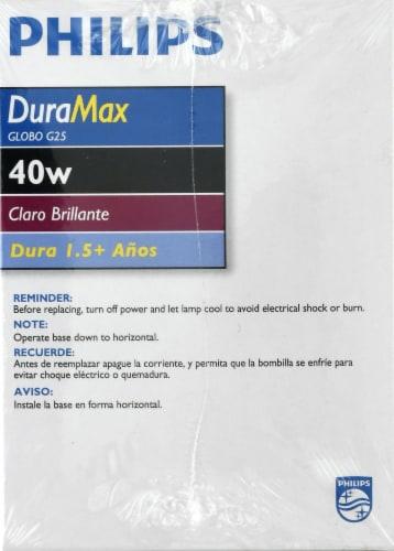 Philips DuraMax 40-Watt Medium Base G25 Globe Light Bulbs Perspective: right