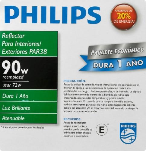Philips EcoVantage 72-Watt (90-Watt) Medium Base PAR38 Floodlight Bulbs Perspective: right