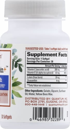 Quantum Health See Lutein Eye Health Softgels Perspective: right