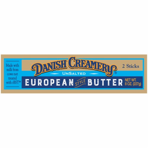 Danish Creamery Unsalted European Style Butter Perspective: right