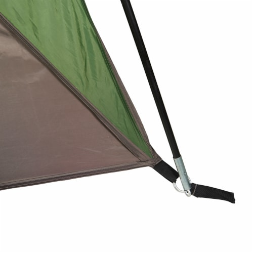 Wenzel Durango 120 Square Foot Magnetic Door Screen House Dome Tent, Green Perspective: right