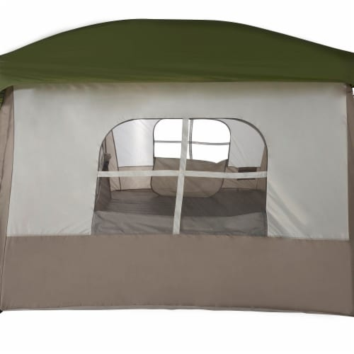 Wenzel Klondike Large Outdoor 8 Person Camping Tent with Screen Room, Green Perspective: right