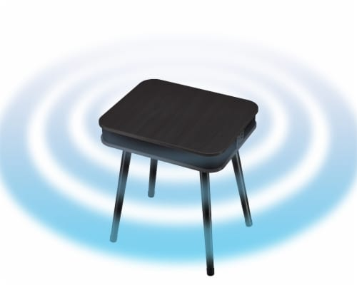 Square Speaker End Table - Black Perspective: right