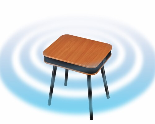 Square Speaker End Table - Brown Perspective: right