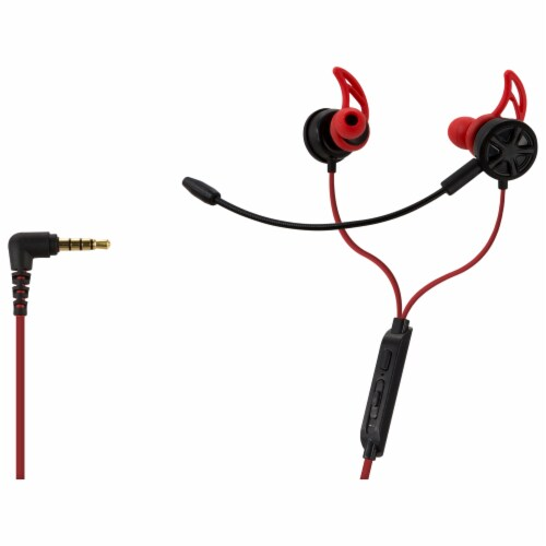 iLive Gaming Earbuds with Mic - Red Perspective: right