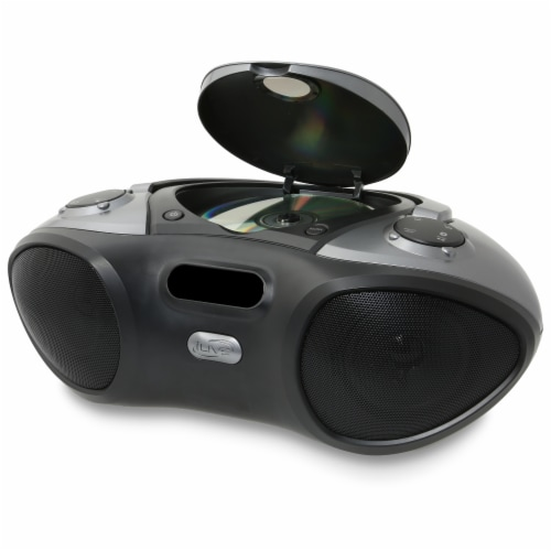 iLive Bluetooth Boombox and Radio - Black Perspective: right
