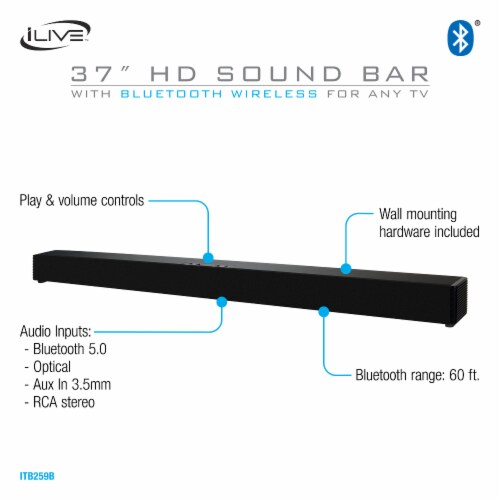 iLive Bluetooth Soundbar Perspective: right
