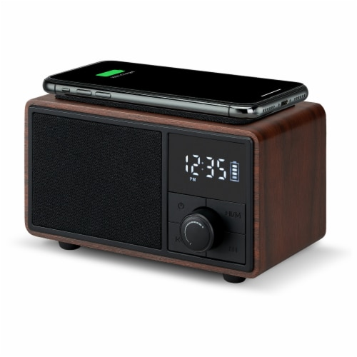 Msbq270dw Bluetooth Clock Radio with Wireless Charging Perspective: right
