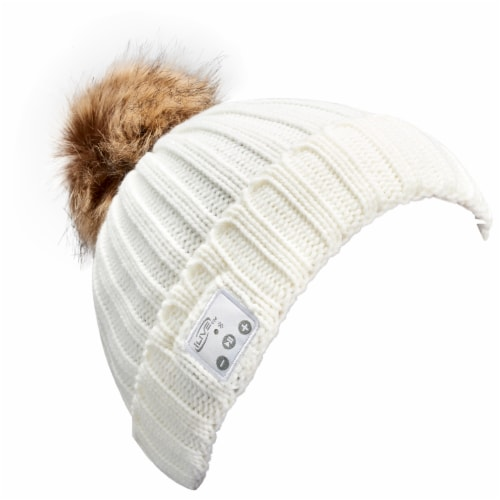 iLive Wireless Music Knit Beanie with Pom Perspective: right