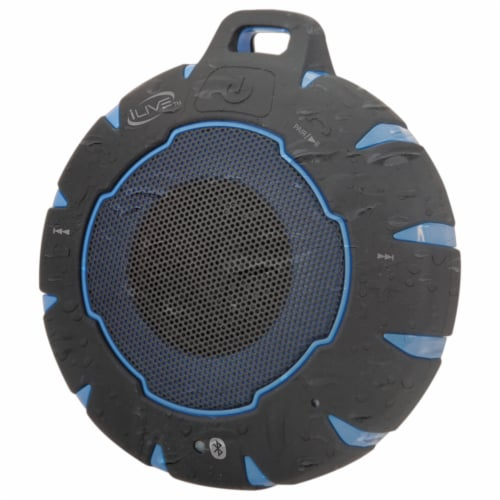 iLive Waterproof Wireless Speaker - Black/Blue Perspective: right