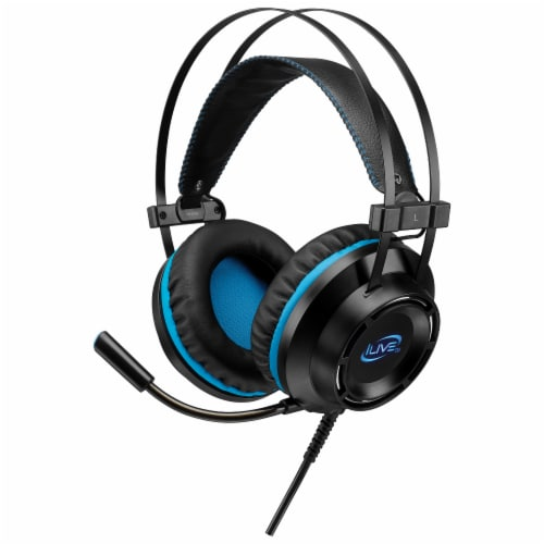 iLive Gaming Headphones - Black/Blue Perspective: right