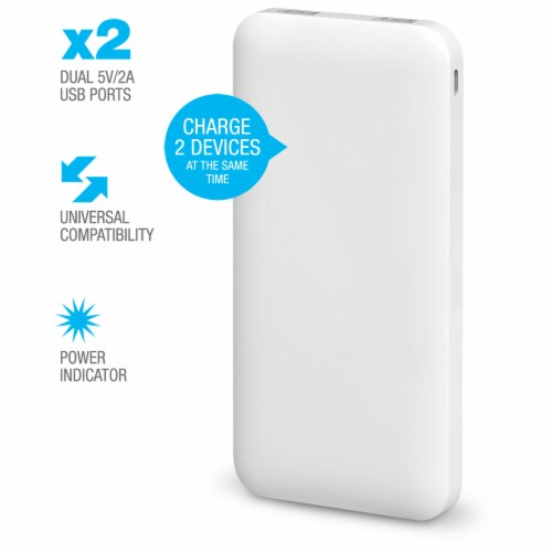 iLive Portable Power Bank - White Perspective: right