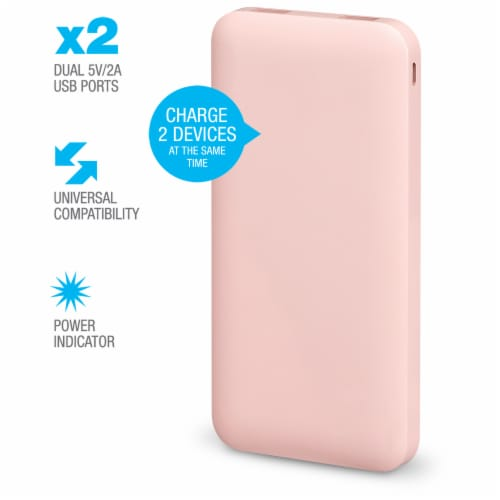 iLive Portable Power Bank - Pink Perspective: right