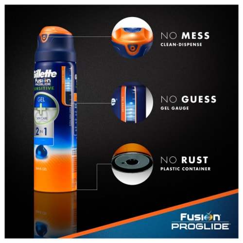 Gillette Fusion ProGlide Sensitive 2-in-1 Active Sport Shave Gel Perspective: right