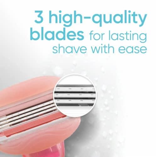 Gillette® Venus ComfortGlide White Tea Women's Razor Blades Refills Cartridges Perspective: right