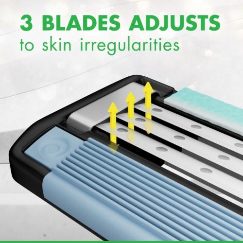 Gillette® Mach3 Sensitive Men's Disposable Razors Perspective: right