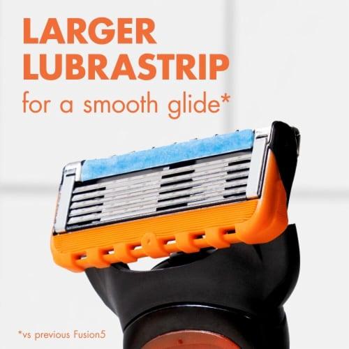 Gillette® Fusion5 Men's Razor Blade Refill Cartridges Perspective: right