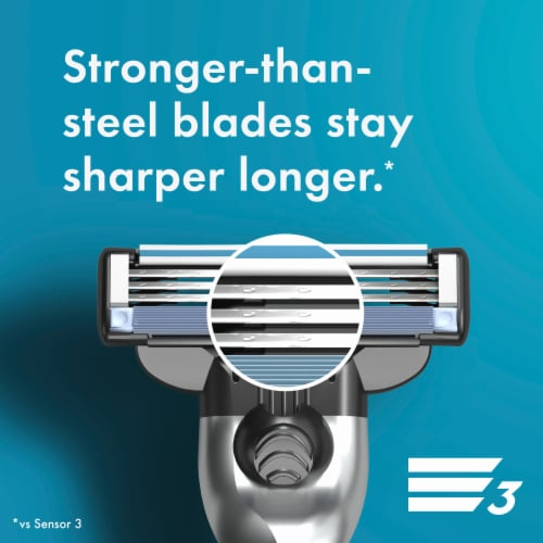 Gillette® Mach3 Men's Razor Blades Perspective: right