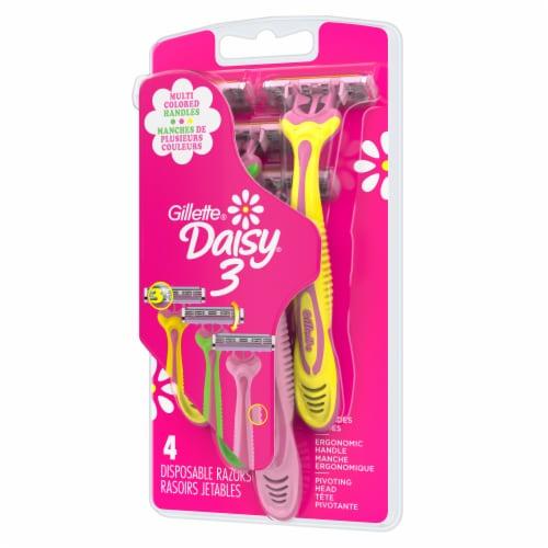 Gillette Daisy3 Women's Disposable Razors Multicolor Perspective: right