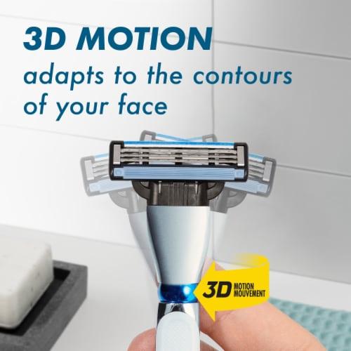 Gillette® Mach3 3D Men's Razor Handle + Blade Refill Cartridges Perspective: right