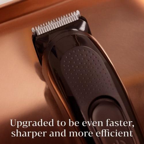 King C. Gillette Cordless Men's Beard Trimmer Shave Kit Perspective: right