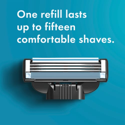 Gillette® Mach3 Razor and Cartridges Perspective: right