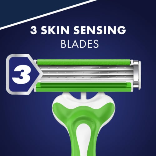 Gillette Sensor3 Sensitive Disposable Razors Perspective: right