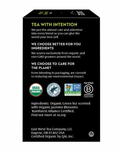 Choice Organic Jasmine Green Tea Bags Perspective: right
