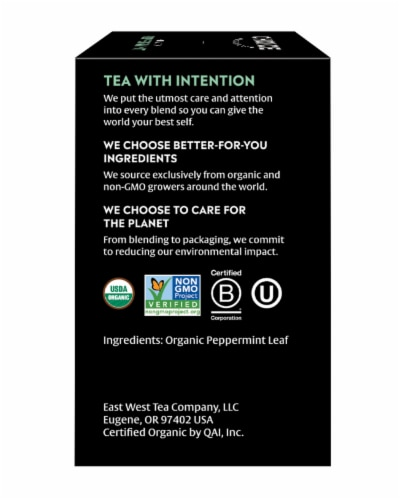 Choice Organics Peppermint Tea Bags Perspective: right