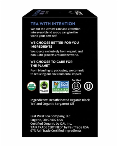 Choice Organic Decaffeinated Earl Grey Tea Bags Perspective: right