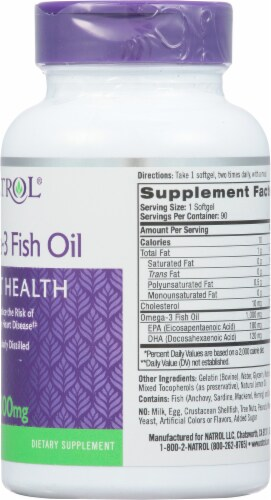 Natrol 1000mg Omega-3 Fish Oil Heart Health Supplement Perspective: right