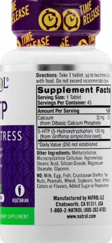 Natrol 5-HTP Time Release 100mg Perspective: right