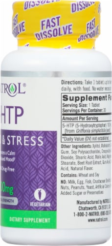 Natrol 100mg 5-HTP Fast Dissolve Perspective: right