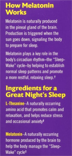 Natrol Advanced Melatonin Calm Sleep Strawberry Fast Dissolve Tablets Perspective: right