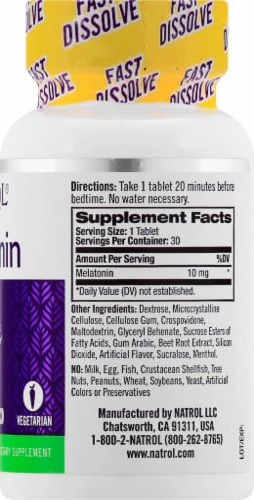 Natrol Strawberry Melatonin Sleep Tablets 10mg Perspective: right