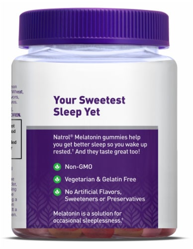 Natrol Strawberry Flavored Melatonin Gummies 10mg Perspective: right